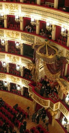 Interior of the Bolshoi theater,Moscow, Russia.