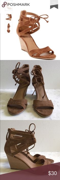 Brown Suede Wedges 14th and Union Brown suede wedges .. So comfortable ! Size 7 14th & Union Shoes Wedges