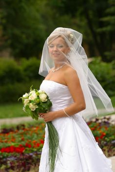 The veil is a custom that dates back to Roman times, symbolizing the bride's modesty. In certain cultures, the veil was worn to hide the bride's face from the groom until after the ceremony.  While the symbolism of the veil has decreased over the years, it is still customarily worn, although today's bride exudes confidence as she marches down the aisle, rarely choosing to cover her face, unlike this bride who wears her veil in the traditional fashion.  Content courtesy of Juliette Weddings…