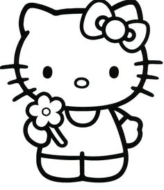 Coloring Page Hello Kitty Free Pages With