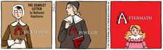 THE SCARLET LETTER by Nathaniel Hawthorne.