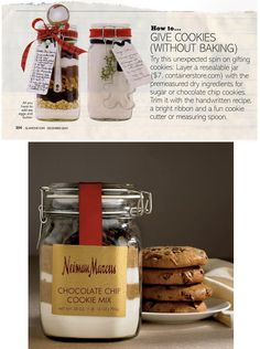DIY Inspiration for packaging up Cookie Making Ingredients. Love the cookie cutter embellishment.