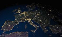 Terra vista do espaço                            Europa e uma parte do Norte da África