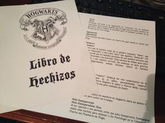 Libro de hechizos de Harry Potter en pdf para imprimir en casa.