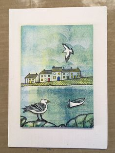 Oh I do like to be beside the seaside! A Harbour Canvas Step by Step Clarity Card, Barbara Gray Blog, Beach Cards, Artwork Design, Clear Stamps, Seaside, Stencils, Projects To Try, Canvas