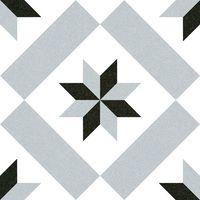 imitation tile cement gray and black star 20x20 cm Calvet - 1m² Vives Azulejos y Gres