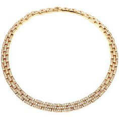 Cartier Maillon Panthere Diamond Yellow Gold Necklace