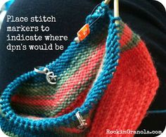 Mini Circular Needle Sock #knitting Tutorial (WHY on earth I do it and the method to my madness) ::: KelizabethFleck.com