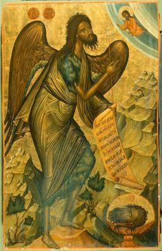 Byzantine Icons, Byzantine Art, Religious Images, Religious Art, Russian Icons, Best Icons, John The Baptist, Orthodox Icons, San Juan