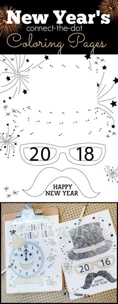 New Years Eve Connect the Dots Coloring Page