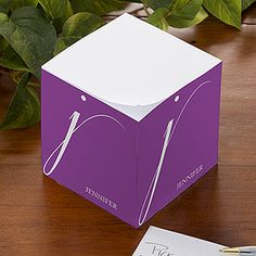 Stylish Monogram Personalized Paper Note Cube