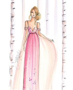'Ethereal Beauty' by @hnicholsillustration/ hnillustration.etsy.com| Be Inspirational ❥|Mz. Manerz: Being well dressed is a beautiful form of confidence, happiness & politeness