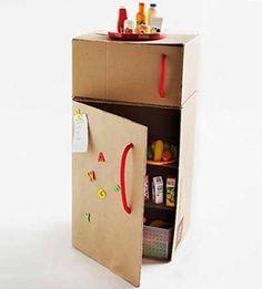cardboard fridge.