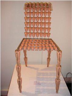 Barbie chair. Too weird.