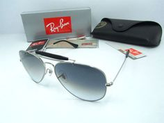Ray Ban RB3407 Aviator sunglasses 003/40 In Silver with grey lens    Ray Ban sunglasses RB3407 Frame Size:58-14 mm (Eye-Bridge-Temple)  All Colors: Goldl/Brown/001/51 or Gold/Dark/001 Silver/Gray/003/40.  Accessories: Same as original, Coming with RayBan case, box, pouch, warranty card, etc.    Sunglasses Features:  1> Full sun protection  2> Comfortable metal frame  3> Sleek slightly wraparound lenses