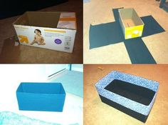 Diaper box- DIY storage box. Can do as I use those diapers!!!