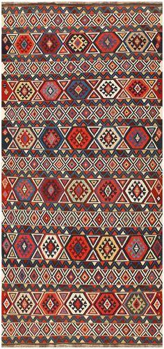 Antique Caucasian Kilim 48420