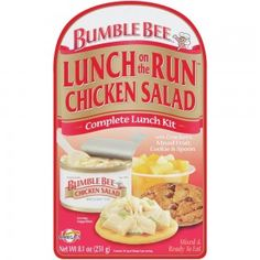 Bumble Bee® Lunch on the Run™ Chicken Salad - Complete Lunch Kit - Everything you need for a quick, delicious meal. Creamy chicken salad, crackers, mixed fruit, cookie & a spoon.