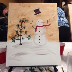 Great Christmas Idea: Go to a painting party with your friends and make some art!