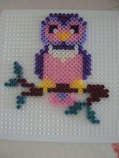 Owl hama perler beads  - Le jardin d Edenea  Could easily convert to cross stitch pattern