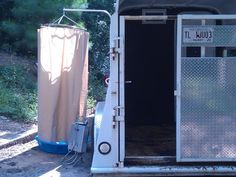 build a camping shower shelter - Google Search