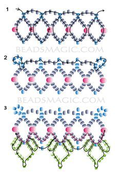 Free pattern for beautiful beaded necklace Tears In Rain-TUTORIAL  u need seed beads #10,11 and faceted beads #4