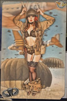 military pinups | ... Military Headquarters - View topic - WW2 & Coca Cola Posters: Pinup