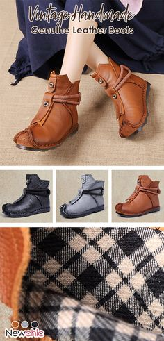 c624105e2fb  50% off Women Folkways Vintage Handmade Genuine Leather Snow Boots. boots