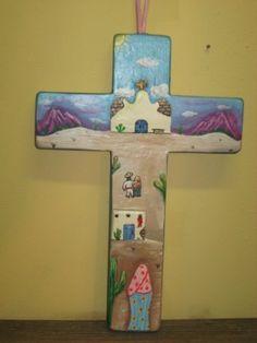Kowlaski Painted Wood Cross