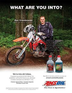 """AMSOIL Engineered to deliver the performance attributes most requested by on- and off-track dirt bike riders, including consistent clutch feel. Consistent clutch feel is the result of """"friction durability,"""" so whether deep into a race or deep in the woods, riders can feel confident their clutch will perform from start to finish. AMSOIL-exclusive advanced chemistry provides outstanding engine reliability for worry-free operation under severe conditions. Order from: www.taylorenergygroup.com"""