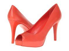 Nine West Camya Orange Leather - Zappos.com Free Shipping BOTH Ways Leather Slip On Shoes, Leather Pumps, Rainbow Shoes, Designer High Heels, Orange Leather, Platform Pumps, Nine West, Wedding Shoes, Shoes Heels