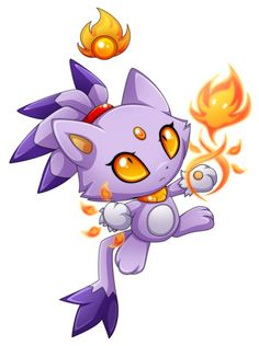 Chao blaze the cat! x)
