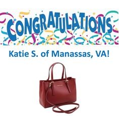 Congratulations to Katie S. of Manassas, VA! She is the winner of Le Blonde Chateau's first Holiday Giveaway! Katie won this gorgeous Tuscany Leather purse from Niceties & Nuptials Boutique. Make sure you follow @LeBlondeChateau on #Instagram so you don't miss out on her #HolidayGiveaways!