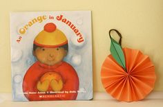 """An Orange Paper Craft for Kids to Go with the Book """"An Orange in January""""~ Buggy and Buddy"""