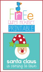 Free Christmas printables from Lauren McKinsey.