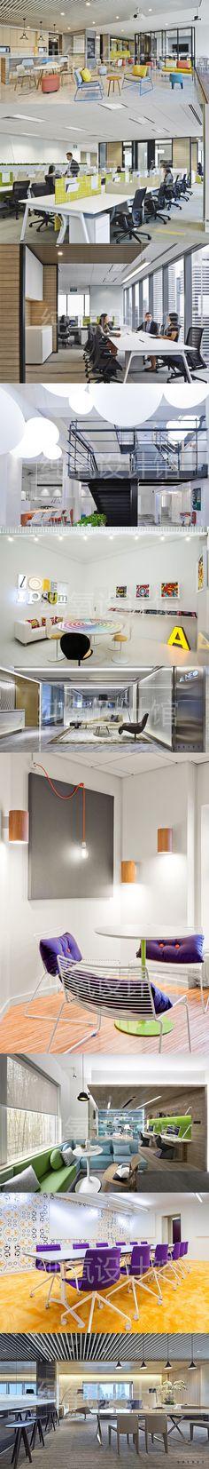 Z12.2 国内外优秀办公空间设计案例 办公室空间设计案例参考图片-淘宝网