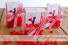 Make personalized silhouette Valentines for Valentine's Day. via NoBiggie.net