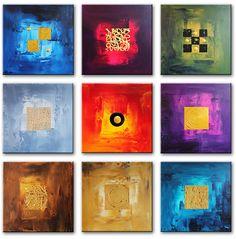 Schilderij Nine Abstracts