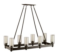 Buy the Kichler Olde Bronze Direct. Shop for the Kichler Olde Bronze Circolo 8 Light Wide Chandelier with Dual Cylinder Shades and save. Rectangle Chandelier, Linear Chandelier, Contemporary Chandelier, Chandelier Lighting, Contemporary Design, Chandeliers, Kitchen Chandelier, Bronze Chandelier, Pendant Lamps
