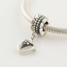 Authentic 925 Sterling Silver Dangle Letter U Charm Fits Bracelets and Necklaces Diy Beads for Jewelry Making PLE12U