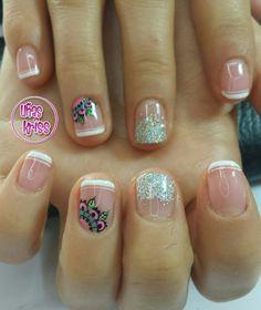 Dali, Nail Designs, Nail Art, Glitter, Beauty, Work Nails, Polish Nails, Bees, Nail Desings