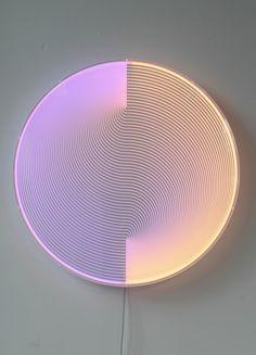 Thanks for the Sky blue/orange, Arnout Meijer Showroom Design, Luminaire Design, Lamp Design, Neon Lighting, Lighting Design, Luminaire Applique, Wall Mounted Light, Cool Lamps, Luz Natural
