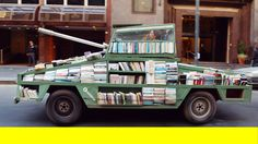 'Weapon of Mass Instruction', A Tank-Shaped Mobile Free Library
