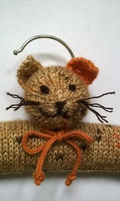 Kitten childrens clothes hanger by thistledown&HOPE, https://folksy.com/items/6637160-Kitten-Clothes-Hanger-for-Children