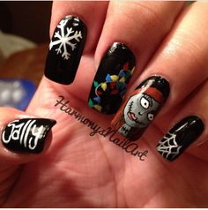 Another beautifully executed Nightmare Before Christmas Nail