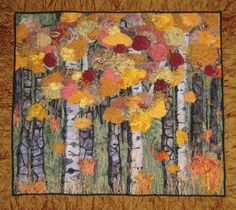 Fascinated with nature-design quilts incorporating birch trees!