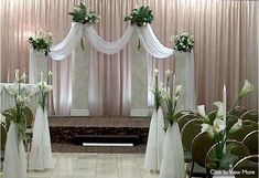 Wedding Ceremony Ideas - Chuppah with drapes & chandelier. Description from pinterest.com. I searched for this on bing.com/images