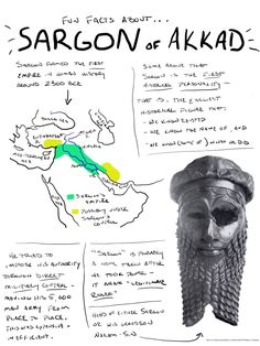 I tried a little comic-type thing about Sargon of Akkad, one of the first significant figures in human history.
