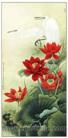 Chinese Lotus Flower Painting FP017