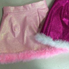 Glitters For Dinner — Made To Order - Michelle Baby Pink Glitter Skirt